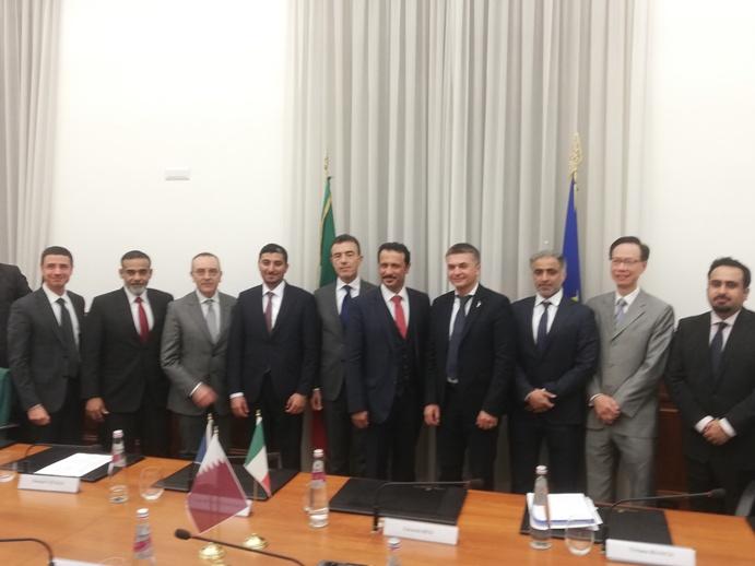La delegazione del Qatar in visita al Mit