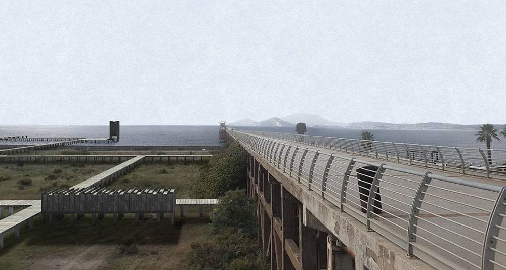 Render: il pontile nord di Bagnoli