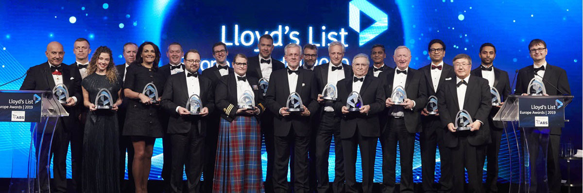I vincitori del Lloyd's List Europe Awards 2019