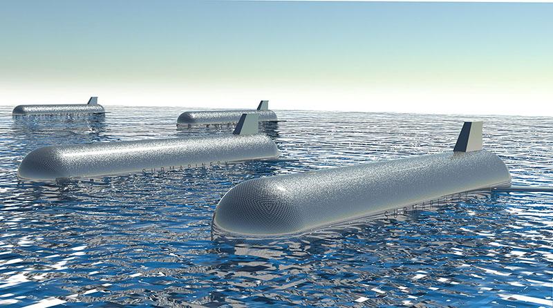 Un render della cisterna galleggiante di Submarinergy