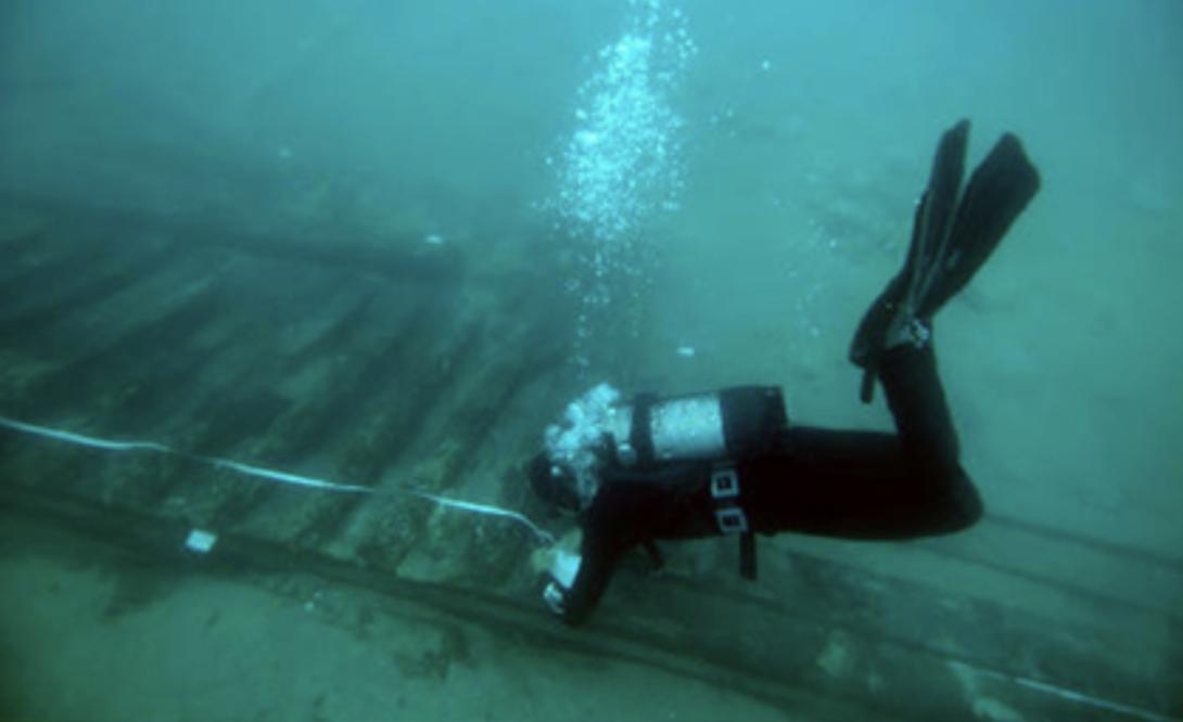 Il relitto sommerso di Punta del Fortino (Foto: Archeomar)