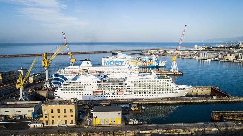 Lo stabilimento di Genova Industrie Navali