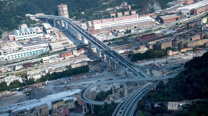 Il Ponte Genova San Giorgio di giorno