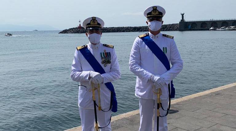 I Capitani di Fregata Vittorio Giovannone e Marco Patrick Mincio