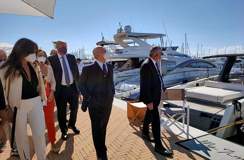 Il governatore della Campania, Vincenzo De Luca, all'inaugurazione del Salerno Boat Show, 10 ottobre 2020 (Regione Campania)