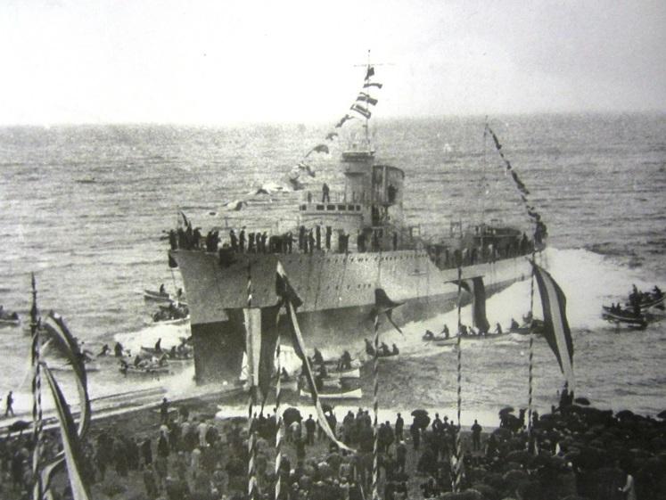 Varo del cacciatorpediniere Scirocco (fonte: Marina Militare)
