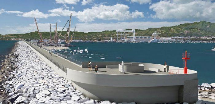 Marina di Carrara, rendering del nuovo waterfront