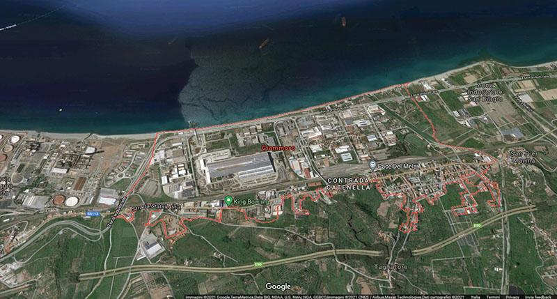 La zona di Giammoro, a Messina