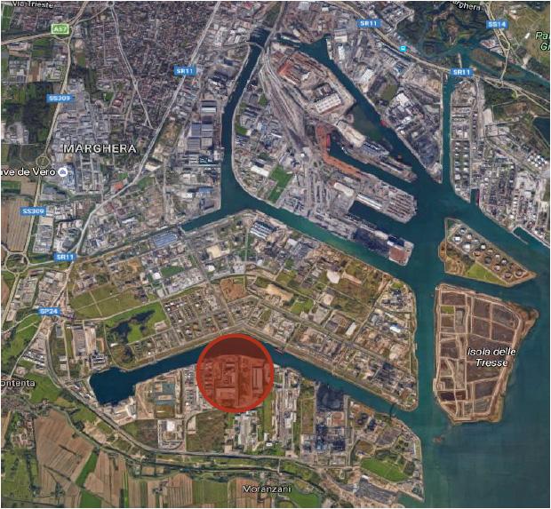 La zona dove verrà realizzato il terminal